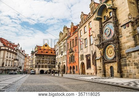 Prague, Czech Republic - March 19, 2020. Old Town Square Without Tourists During Coronavirus Crisis