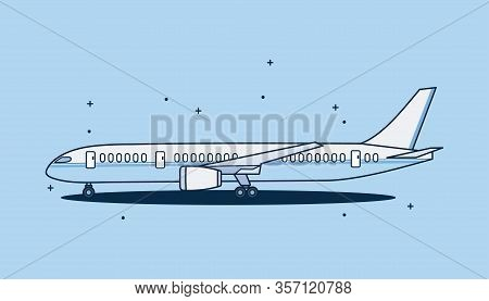 Plane Vector Icons. Plane Logo. Airplane Vector Icon. Airplane In Linear And Modern Simple Flat Desi