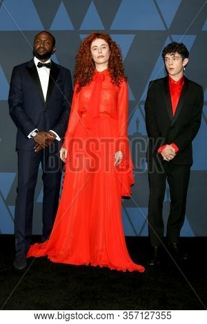 LOS ANGELES - OCT 27:  Byron Bowers, Alma Har El, Noah Jupe at the Governors Awards at the Dolby Theater on October 27, 2019 in Los Angeles, CA
