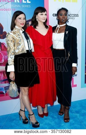 LOS ANGELES - AUG 7:  Lucy Liu, Ginnifer Goodwin, Kirby Howell-Baptiste at the