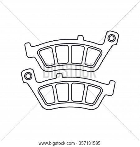Line Vector Icon Auto Moto Parts Accessories Brake Cylinder. Repair Service Equipment. Engine Elemen