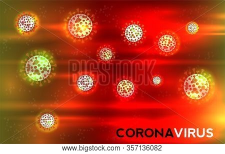 Color Illustration Of Covid-19 With Text Of Corona Virus. Vector.