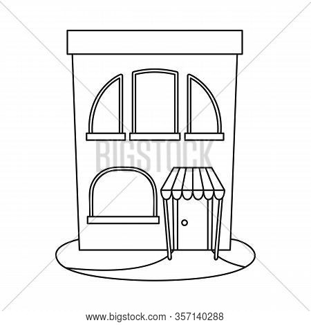 Isolated Object Of Bookstore And Modern Symbol. Set Of Bookstore And Shop Stock Symbol For Web.