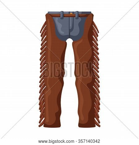 Pants Of Cowboy Vector Icon.cartoon Vector Icon Isolated On White Background Pants Of Cowboy.