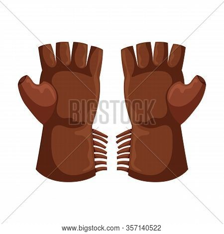 Cowboy Glove Vector Icon.cartoon Vector Icon Isolated On White Background Cowboy Glove.