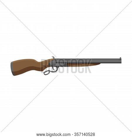 Cowboy Gun Vector Icon.cartoon Vector Icon Isolated On White Background Cowboy Gun.