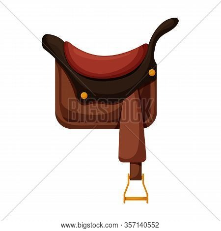 Cowboy Saddle Vector Icon.cartoon Vector Icon Isolated On White Background Cowboy Saddle.