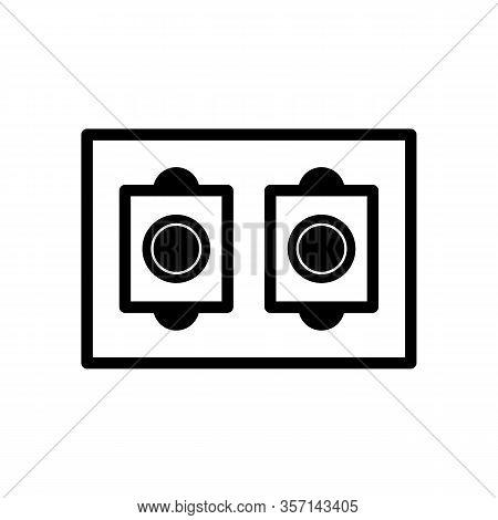 Led Light Strip Icon. Vector Illustration In Black