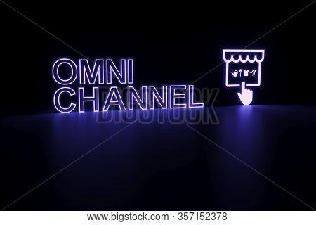 Omni Channel Neon Concept Self Illumination Background 3d Illustration
