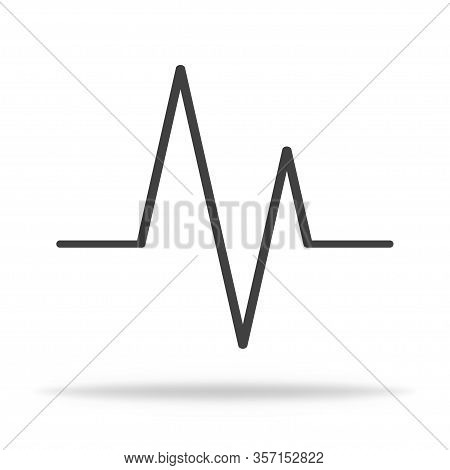 Puls Icon. Heartbeat Pulsing Icon Showing Rhythm. Vector Eps 10