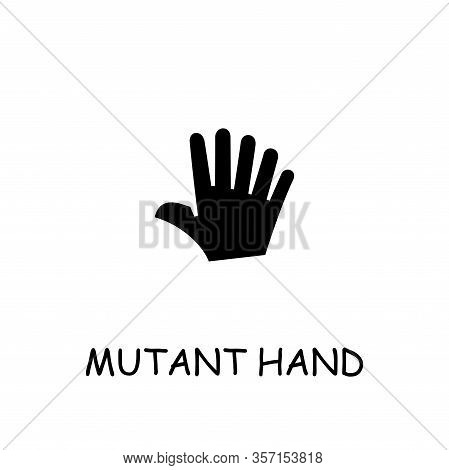 Mutant Hand Flat Vector Icon. Hand Drawn Style Design Illustrations.