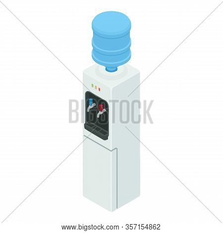 Cooler Water Icon. Isometric Of Cooler Water Vector Icon For Web Design Isolated On White Background