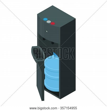 Modern Office Water Cooler Icon. Isometric Of Modern Office Water Cooler Vector Icon For Web Design
