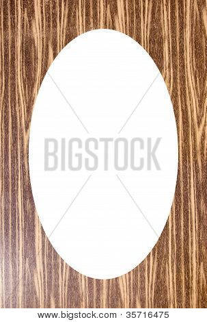 Cardboard Background And White Oval In Center