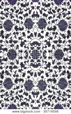 Repeating Floral Damask