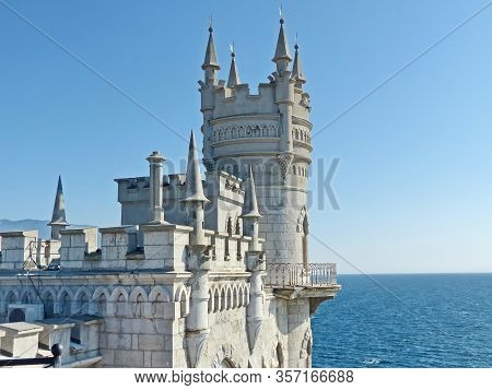 Swallows Nest-gothic Castle Over The Cliff Of The Sea, The Emblem Of The Southern Coast Of Crimea. L