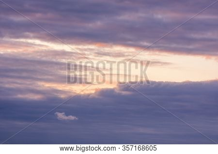 Texture Of A Colorful Sky With Clouds And Sun