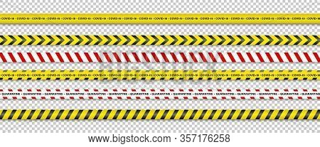 Warning Stripes. Coronavirus Warning Stripes. Covid-19 Signs. Quarantine Biohazard Symbol. Warning S