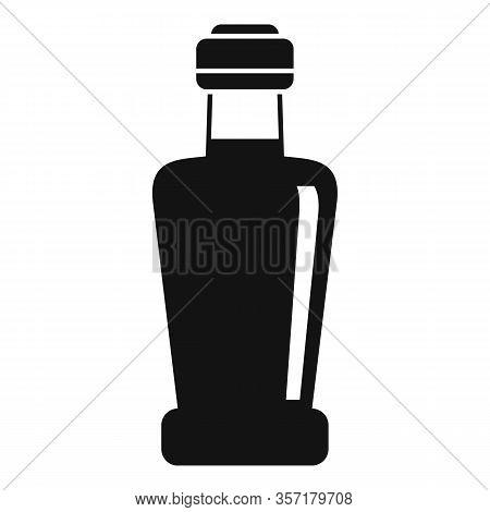 Vinegar Bottle Icon. Simple Illustration Of Vinegar Bottle Vector Icon For Web Design Isolated On Wh