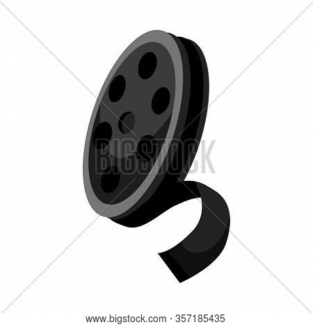 Isolated Object Of Reel And Movie Logo. Web Element Of Reel And Film Vector Icon For Stock.