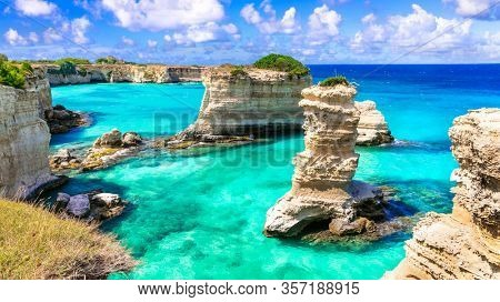 Beautiful sea scenery in Puglia. Italy.