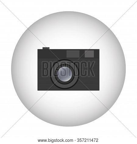 Camera Icon Symbol Design. Vector Template Illustration. Classic Photographic Camera - Black