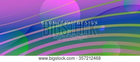 Flow Geometric Abstract. Curve Gradient Shape Landing Page. Colorful Creative Pattern. Graphic Dynam