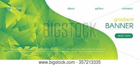 Abstract Geometric Background. 3d Gradient Poster. Ecology Graphic Polygon Banner. Technology Diamon