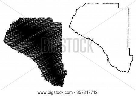 Taylor County, Florida (u.s. County, United States Of America, Usa, U.s., Us) Map Vector Illustratio
