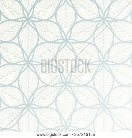 Vector Pattern, Repeating Abstract Linear Flower Or Flora Pattern. Pattern Is Clean For Fabric, Prin