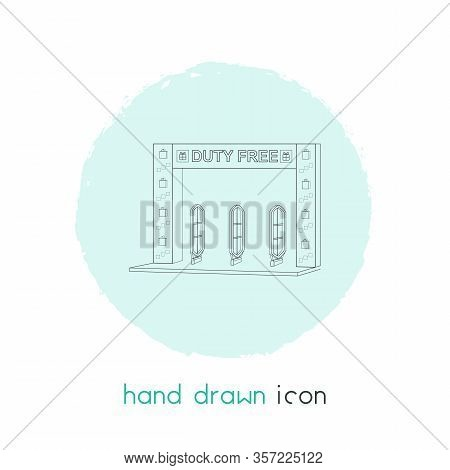 Duty Free Zone Icon Line Element. Vector Illustration Of Duty Free Zone Icon Line Isolated On Clean