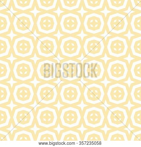 Abstract Vector Ornamental Geometric Seamless Pattern. Elegant Texture With Floral Shapes, Diamonds,