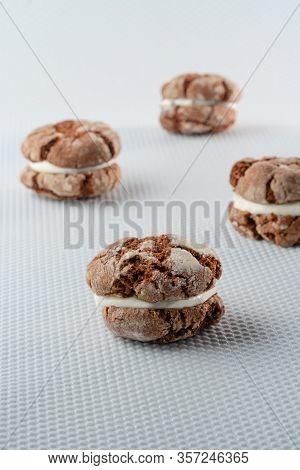 Coffee Cake, Cookies On Table Close-up Cakes, Table, Cake, Treat, Green, Bake, Handmade, Berries, Bi