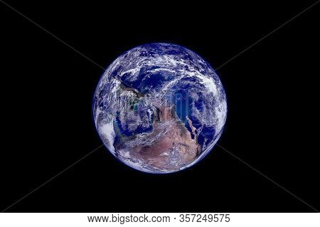Earth View From Space Elements Of This Image Were Furnished By Nasa.