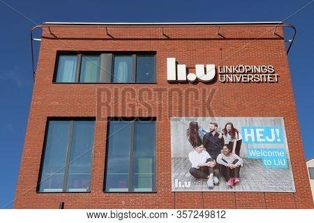 Norrkoping, Sweden - August 25, 2018: Linkoping University (linkopings Universitet) Campus In Norrko
