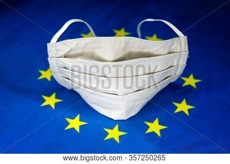 Face Protective Mask And European Union Flag