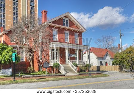 Augusta, Georgia/united States- January 7: The Boyhood Home Of Joseph Rucker Lamar In Augusta, Georg