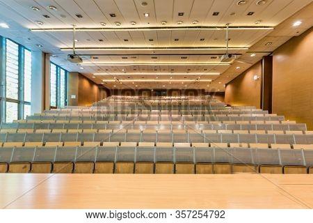 Photo of empty classroom in school due to coronavirus