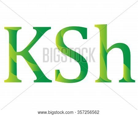 Kenyan Shilling Currency Symbol Icon Of Kenia Vector Illustration On A White Background