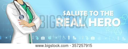 Illustration Of Healthcare And Medical Background Showing Gratitude And Saying Thank You Doctor For