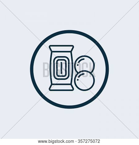 Cookies Icon. Cookies Icon Vector Flat Illustration For Graphic And Web Design Isolated On Black Bac