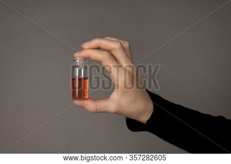A Vaccine For A Dangerous New Virus In Your Hands. Medicine For Coronavirus And Infection. Hope Of M