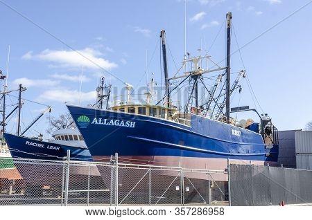 Fairhaven, Massachusetts, Usa - March 22, 2020: Former Carlos Rafael Fishing Boat Southern Crusader