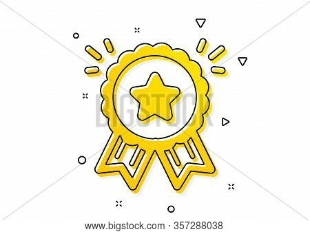 Bonus Points. Loyalty Award Icon. Discount Program Symbol. Yellow Circles Pattern. Classic Loyalty A