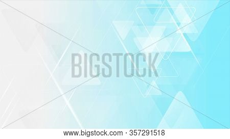 Blue grey triangles tech abstract background