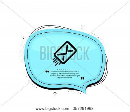 Mail Delivery Icon. Quote Speech Bubble. Message Correspondence Sign. E-mail Symbol. Quotation Marks