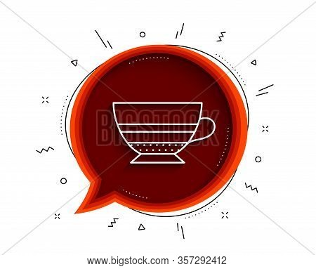 Mocha Coffee Icon. Chat Bubble With Shadow. Hot Drink Sign. Beverage Symbol. Thin Line Mocha Icon. V