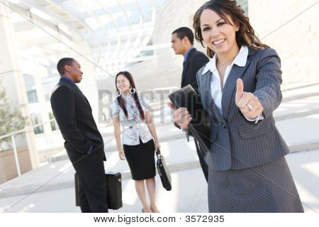 Successful Business Team At Office