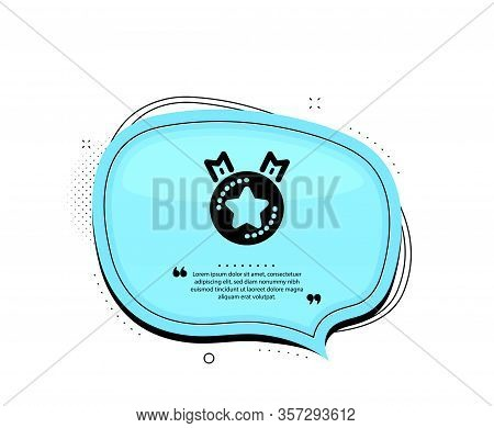 Ranking Star Icon. Quote Speech Bubble. Winner Medal Sign. Best Rank Symbol. Quotation Marks. Classi