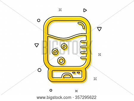 Still Aqua Drink Sign. Water Cooler Bottle Icon. Liquid Symbol. Yellow Circles Pattern. Classic Wate